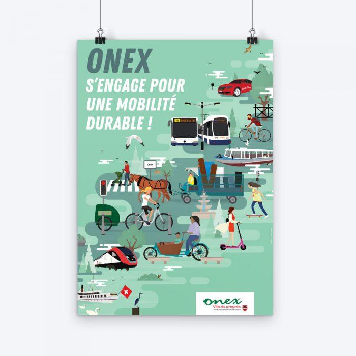 Mobilité durable en Ville d'Onex