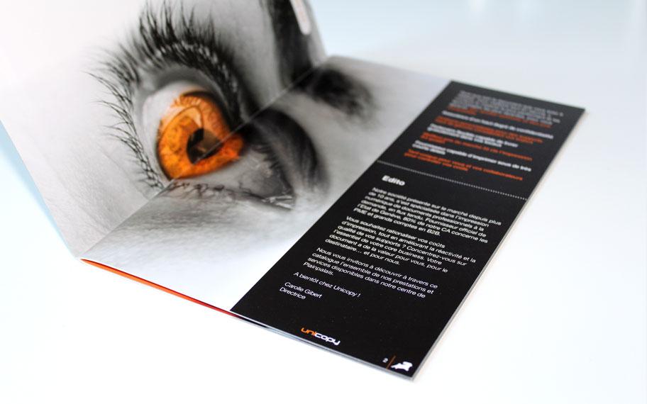 Brochure Unicopy, Atelier graphique, Genève.