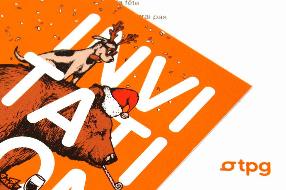 Identité visuelle de la fête de fin d'année des TPG, Atelier Graphique, Genève